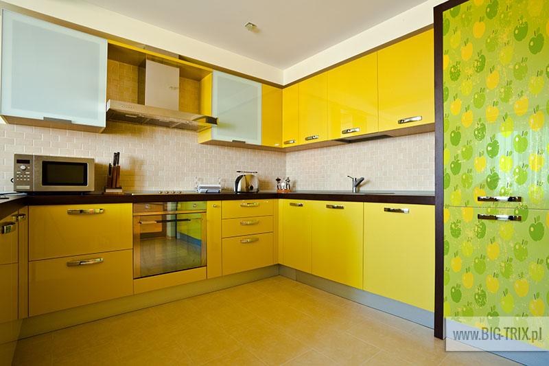 Yellow kitchen interior