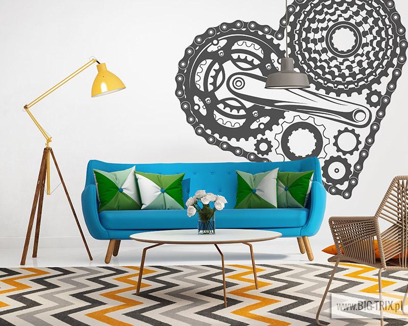 Elegant contemporary fresh interior with bluw sofa