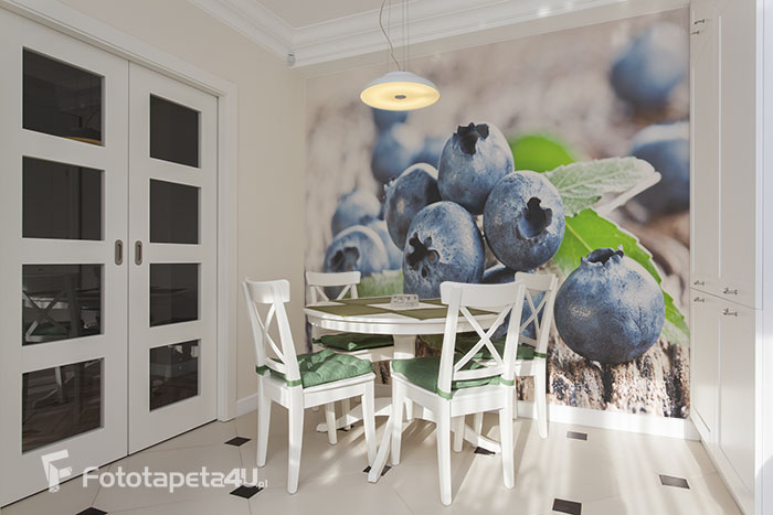 Fototapeta Blueberries with leaves
