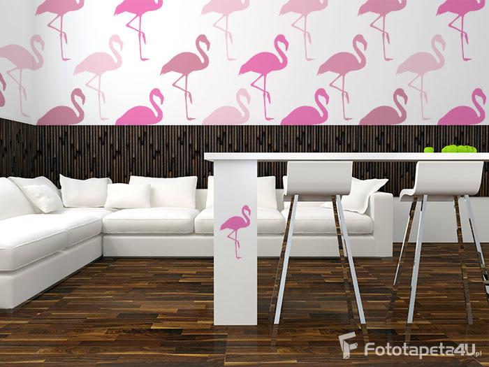 Fototapeta Seamless Pattern Pink Flamingos