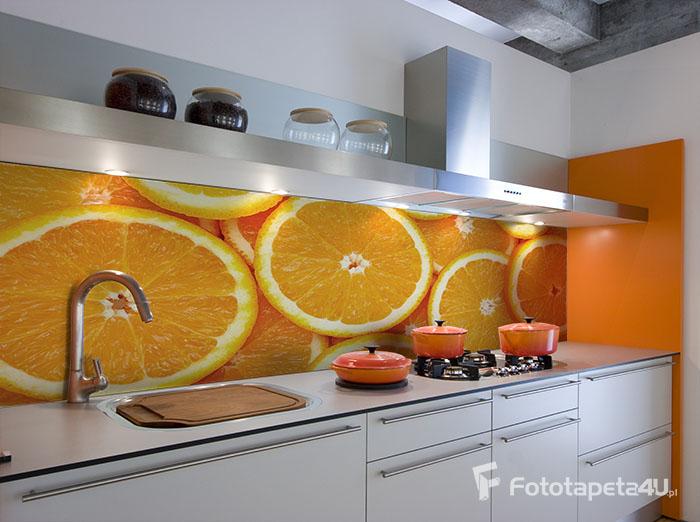fototapeta owoce do białych mebli w kuchni