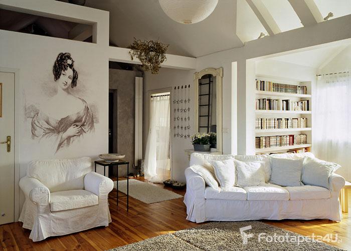 Fototapeta do salonu Portret Kobiety czarno biała