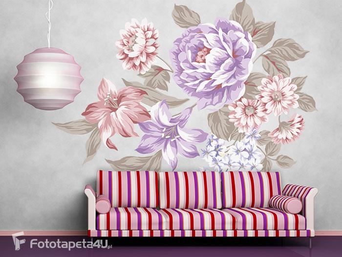 Fototapeta Kwiaty malowane