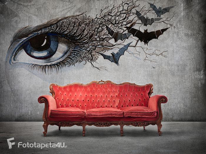 fototapeta winylowa na ścianie OKO nietoperz