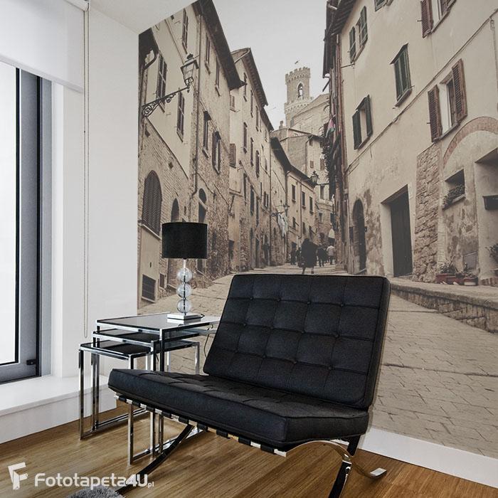 Fototapeta w salonie 3D Uliczka w Volterra, Toskania