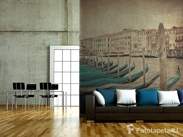 Fototapeta na flizelinie w salonie Gondole Venecja