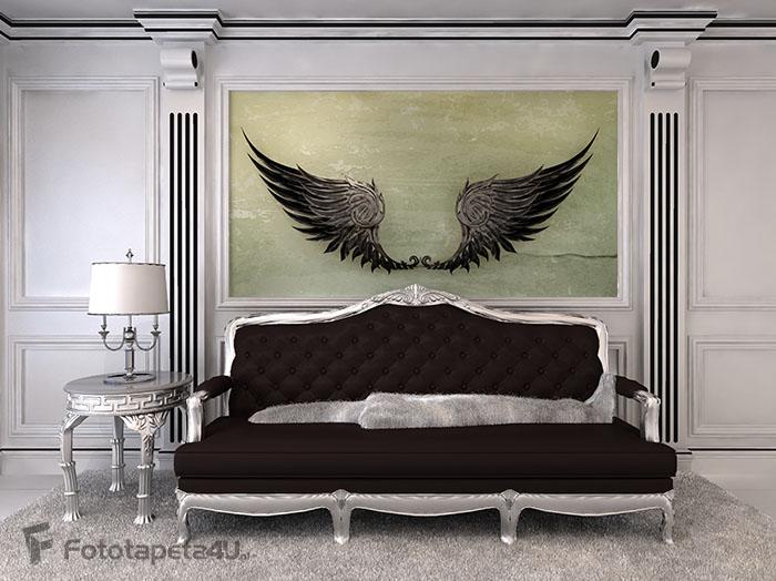 Fototapeta Wings Black, old-style