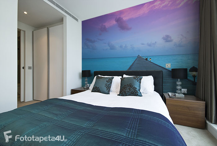 Fototapeta Sunset in the Maldives